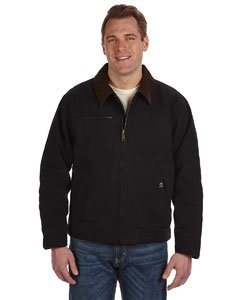 Dri-Duck Outlaw Boulder Cloth Jacket with Corduroy Collar. 5087 - Large - Black