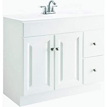 Design House 545087 Wyndham White Semi Gloss Vanity Cabinet With 2
