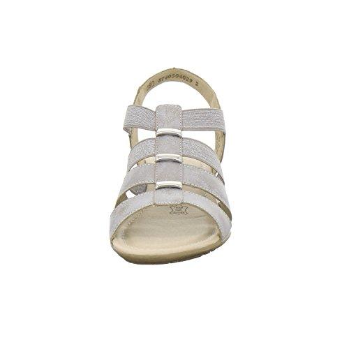Remonte R3644 Damer Sandal, Sandalette, Sommer Sko, Elastisk Bælte Grå