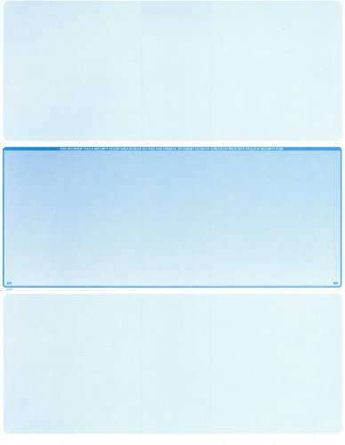 (1000 Blank Laser Checks - Middle Check - Blue - Best Security)