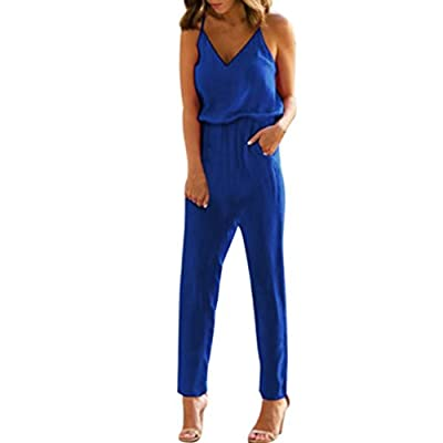 Boomboom Women Jumpsuits, Fashion Women Teens Girls Strappy V Neck Pocket Playsuit Clubwear Jumpsuit