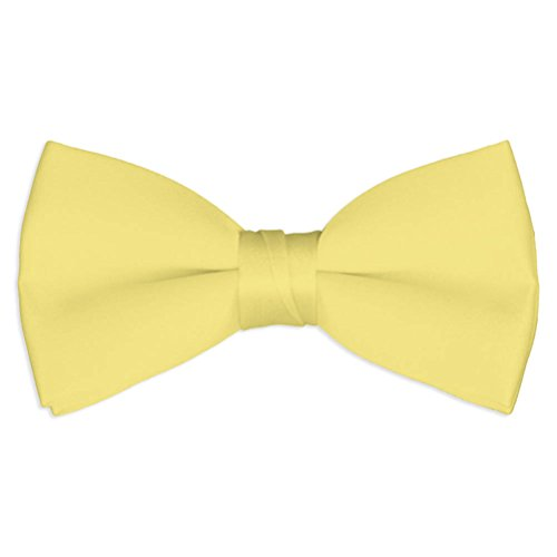 Mens Carary Yellow Satin Bow Tie