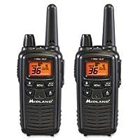 Two-Way Radios, Pair, 24mi Range, Black, Sold as 1 Each, 2 Each per Each