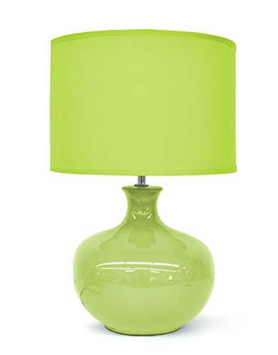 Urban Shop AK639638 Ceramic Lamp, Lime (Lime Lamp Green)