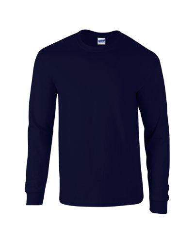Adulte T Manches Ultra À Longues Noir Gildan shirt Cottontm EwntxAwqv