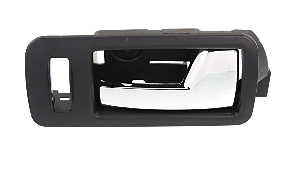 Door Handle For 2005-2014 Ford Mustang Front Left Black w//Chrome Lever Plastic