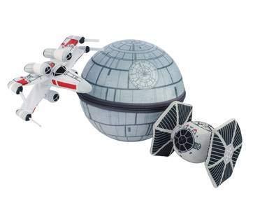 seven20 Scenez Star Wars Death Star Collectible Plush Set, Gray