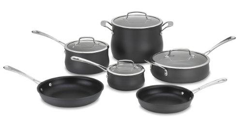Cuisinart 64-10N Contour Hard Anodized 10-Piece Cookware Set (Cuisinart 66 17 17 Piece Cookware Set Black)
