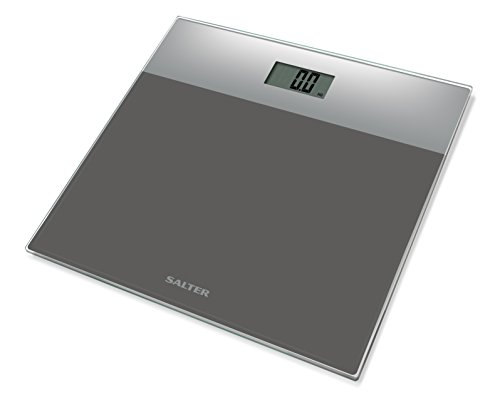 Salter Digital Body Weight Bathroom Scale (Ultra Slim, Easy Read Tempered Glass, Step-On Technology, Electronic Precision, 15 Year Guarantee) - Silver/Silver