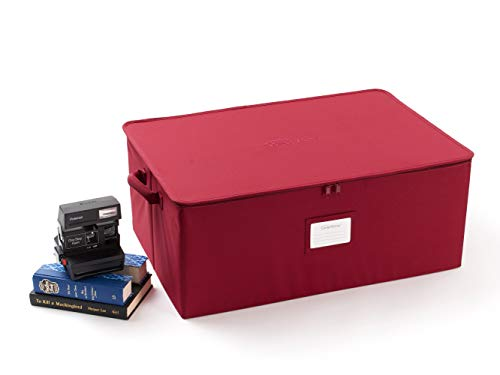 Covermates - Large Zip-Top Storage Box - 24W x 16D x 10H - 2 YR Warranty - Year Around Protection - Scarlett Red