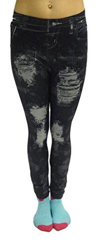 Oe In Jeans Tessuto 14 8 Skinny pantacollant 12 Da Donna 10 Sottile Nero Sexy RqApwUfA