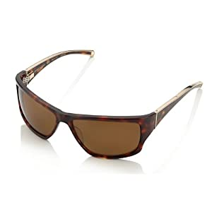 Oxford Vaughan SuperYacht 18k White Gold Plated Aircraft Grade Titanium Sunglasses Brown/Yellow