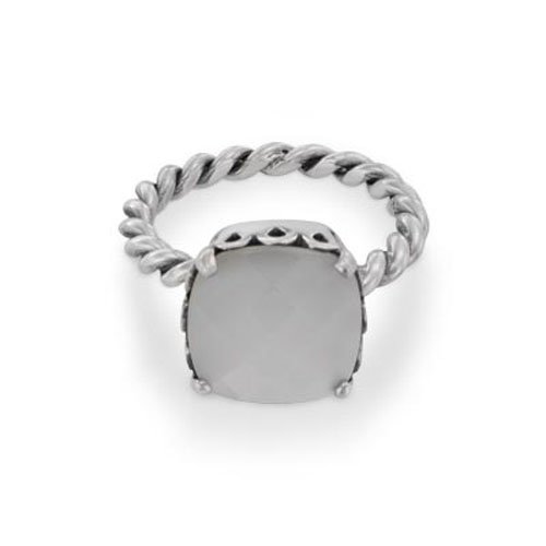 Pandora White Stone Elegant Sincerity Twist Ring