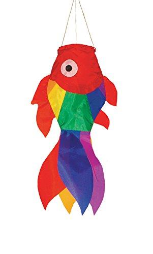 In the Breeze Rainbow Damsel Fish Sock, (Small Windsock)