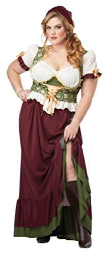 Adult Plus Size Renaissance Wench Costume - Tavern Bar Maid Size 1X]()