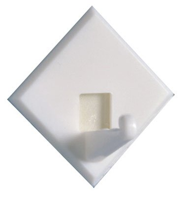 Home Products Intl-North America 01150202.36 Peel-N-Stick 9-Pack Plastic Utility Closet Hooks - Quantity 6