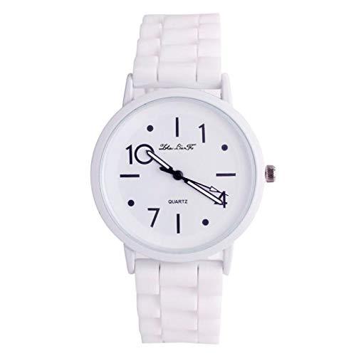 Foncircle Women Men Silicone Casual Watch Quartz Wristwatch Candy - Crystal Ladies Seksy