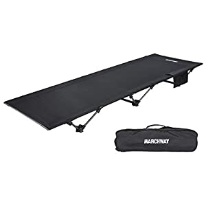 MARCHWAY Lightweight Folding Tent Camping Cot Bed, Portable Compact for Outdoor Travel, Base Camp, Hiking…