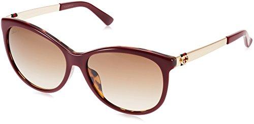 Sunglasses Gucci 3797/F/S 0LVS Burgundy Havana Gold / CC brown gradient lens