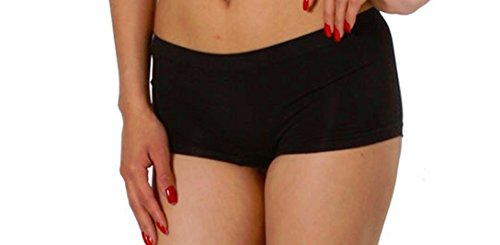 Soho New Sexy Black Booty Seamless Boy Shorts Sports Yoga Dancer Bikini Panty O/S (Wholesale Shorts Booty)