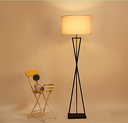 CASEY-L Lámpara de pie de Tela, lámparas de Sala de Estar ...