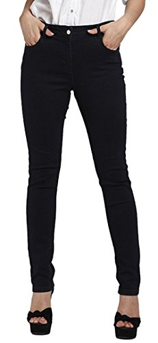 Allonly Women's Dark Blue Fashion Skinny Fit Stretch High Waisted Jeans Pants Plus Size Big And Tall