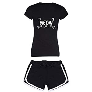 Avaatar Cotton Meon Printed Sleepwear Shorts and T Shirt Set