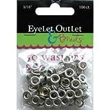 Bulk Buy: Eyelet Outlet (3-Pack) Eyelets & Washers 3/16in., 50 Eyelets, 50 Washers QEYE-169