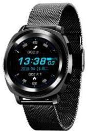 SYYSYY Reloj Deportivo avanzado IP68 Resistente al Agua con Bluetooth, Monitor de sueño, Reloj Inteligente L2 Montres Cardio, Deportivo, con frecuencia cardíaca, Color Negro