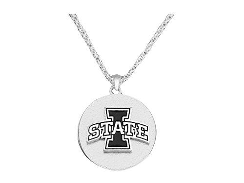 Sports Accessory Store Iowa State Cyclones Two Tone Silver Black Necklace Jewelry ISU NCAA