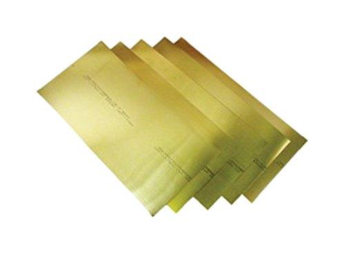 Precision Brand 17SN3 Brass Shim Stock, 6″ x 18″ Flat Sheets, 260 Alloy Brass, 0.003″ (Pack of 10)