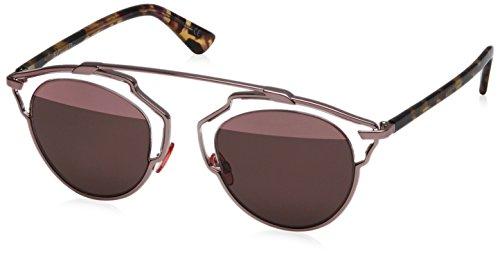 Dior Womens So Real/S Sunglasses (SO REA) Brown/Pink Metal - Non-Polarized - - Hut Sunglass Dior