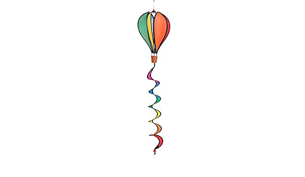 Windspiration Hot Air Balloon Twist Garden Wind Spinner Rainbow