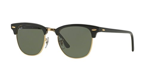 Ray Ban Sunglasses Clubmaster 3016 (51 mm, Black Solid - Ray 3016 Ban Sunglasses