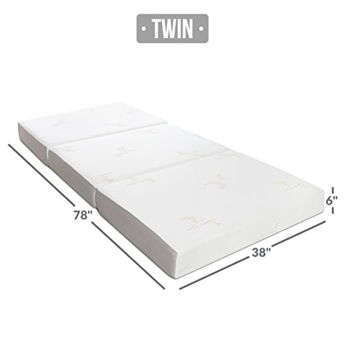 The Milliard Tri-fold Mattress in a plain white background