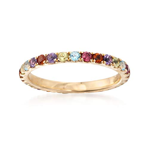 Ross-Simons 1.10 ct. t.w. Multi-Gemstone Eternity Band in 14kt Yellow Gold ()