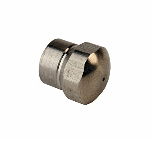 MTM Hydro Stainless Steel Button Nose 1/8'' Female 5.5 Orifice Laser Fixed Sewer Jetter Nozzle 4000 PSI by MTM