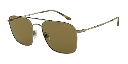 Giorgio Armani Mens Sunglasses Gold Matte/Brown Metal - Non-Polarized - 55mm