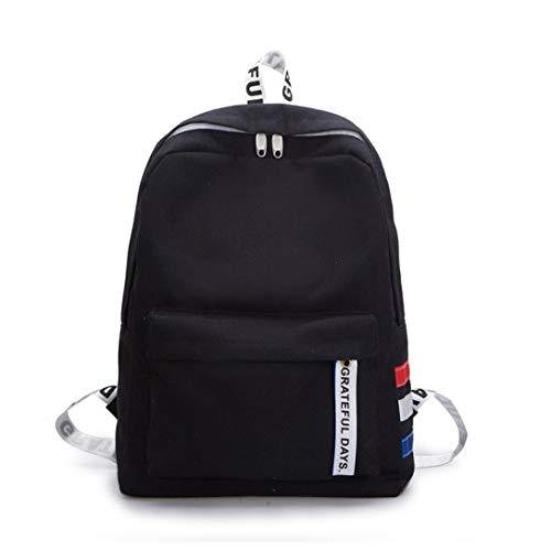 Clearance Students Backpack Rakkiss Students Leather Shoulder Bag School Bag Tote Hit Color Backpack (Miu Miu Designer Bags)
