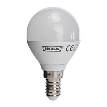 Ikea Ledare - Bombilla led de bajo consumo (E14, 6,3 W, 400 lúmenes, equivale a 40 W, 2700 Kelvin), color blanco cálido: Amazon.es: Hogar