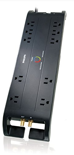 Philips SPP5105C/17 Home Theater Surge Protector with 10 Out