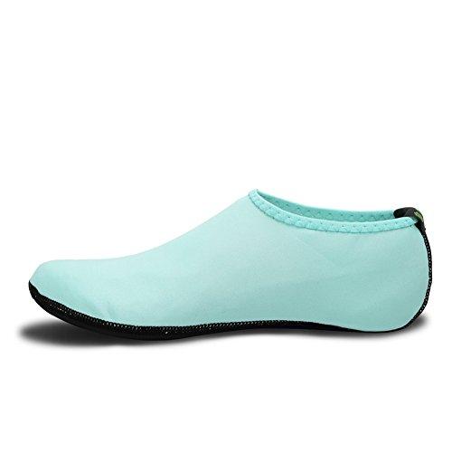 EQUICK Wasser Socken Durable Aqua Flossen Barfuß Schuhe Neue Version Aktualisierte Größe Strand Pool Schwimmen Surf Yoga Übung 3 Aqua