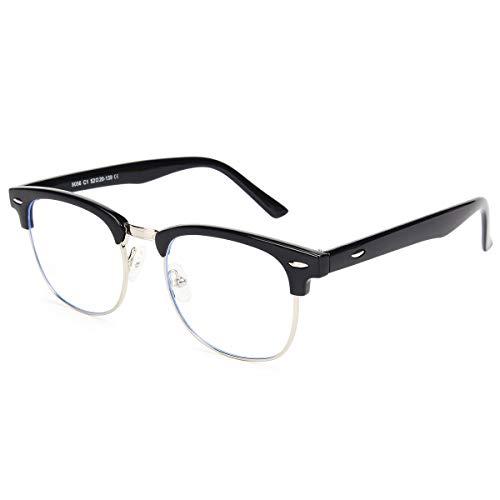Livhò Blue Light Blocking Glasses,UV400 Transparent Lens,Phone Computer Reading Glasses,Anti Eyestrain/Anti Ray,Sleep Better for Women/Men - 0.0 ()