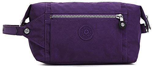 - Aiden Toiletry Bag Purple/Silver