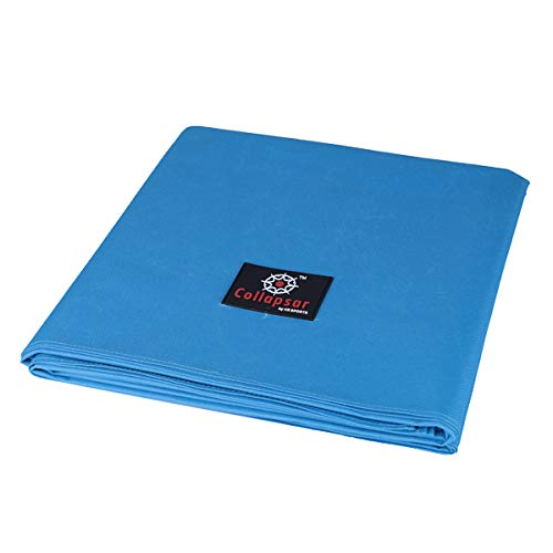 7/8/9FT Heavy Duty 600D Polyester Canvas Billiard Pool Table Cover(7 Colors Available) (Sky Blue, 8-Foot) ()