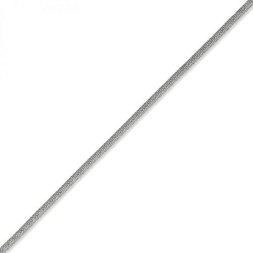 Couleur framboise 5 mm les bracelets bracelet ronde or blanc 750 21 cm