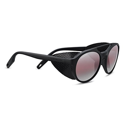 Serengeti Leandro Glacier Polarized Sedona Bi Mirror, Satin Black