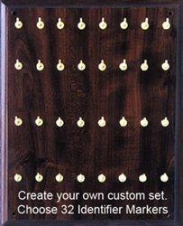 X-Ray Marker Wall Boards - Identifier Set, 32 Brass Hooks