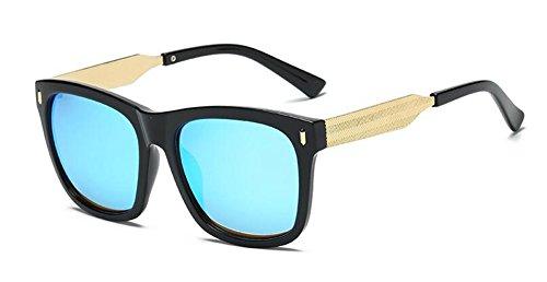 Glacier Lennon vintage en lunettes métallique du retro rond inspirées polarisées style soleil Bleu de cercle qzP8q0a6
