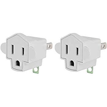Coleman Cable 99010009 3 Prong To 2 Prong Adapter Grounding Outlet Converter 1 Pack Adapters